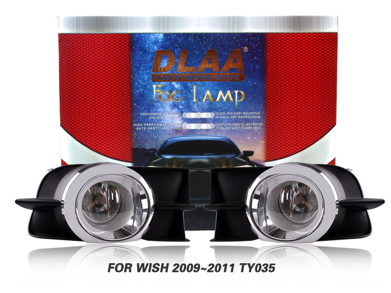 DLAA Fog Lamps Set Bumper Lights withwire FOR WISH 2009~2011 TY035