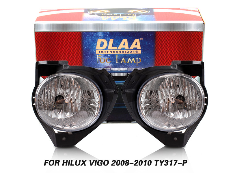 DLAA Fog Lamps Set Bumper Lights withwire FOR HILUX VIGO 2008-2010 TY317-P