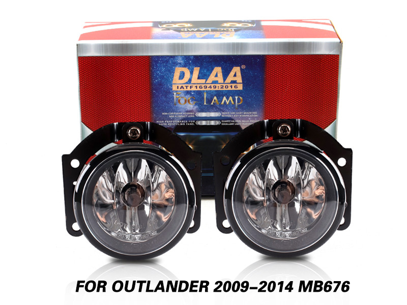 DLAA Fog Lamps Set Bumper Lights withwire FOR OUTLANDER 2009-2014 MB676