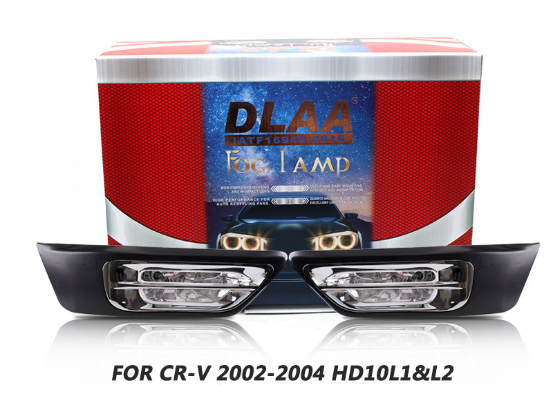 DLAA Fog Lamps Set Bumper Lights withwire FOR CR-V 2002-2004 HD10L1&L2