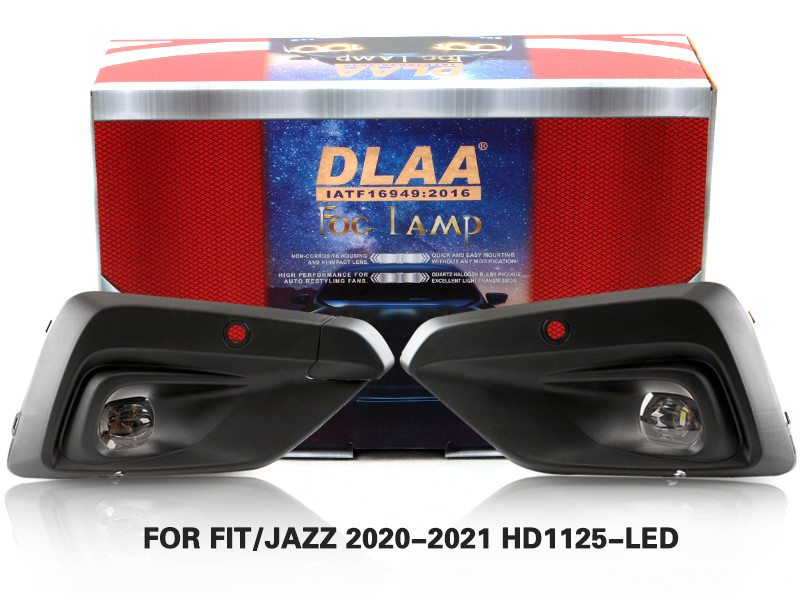 DLAA Fog Lamps Set Bumper Lights withwire FOR FIT JAZZ 2020-2021 HD1125-LED