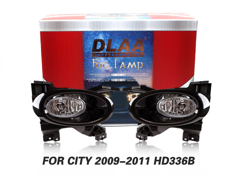 DLAA Fog Lamps Set Bumper Lights withwire FOR CITY 2009-2011 HD336B