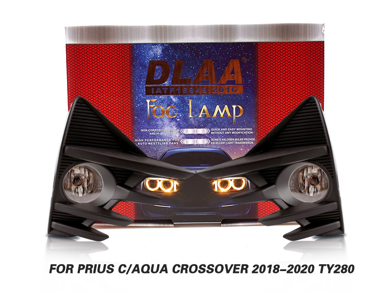 DLAA Fog Lamps Set Bumper Lights withwire FOR PRIUS C AQUA CROSSOVER 2018-2020 TY280
