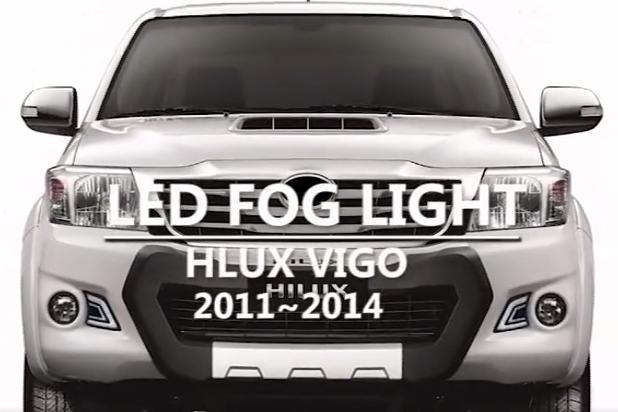 TOYOTA HILUX VIGO CHAMP 2011-14 DRL FOG LAMPS