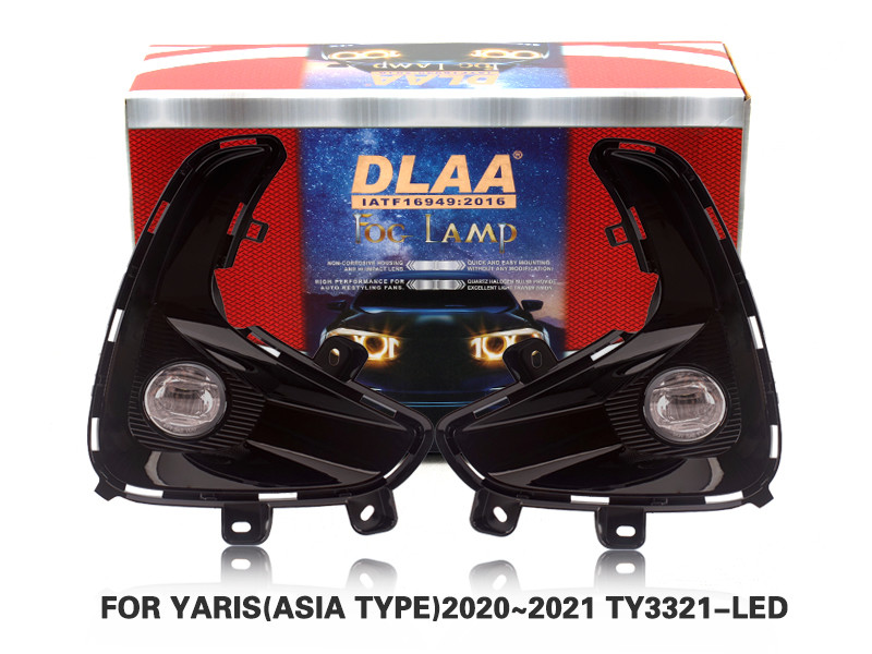 DLAA Fog Lamps Set Bumper Lights withwire FOR YARIS(ASIA TYPE)2020~2021 TY3321-LED