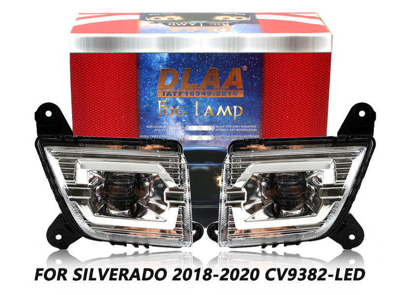DLAA Fog Lamps Set Bumper Lights withwire FOR SILVERADO 2018-2020 CV9382-LED