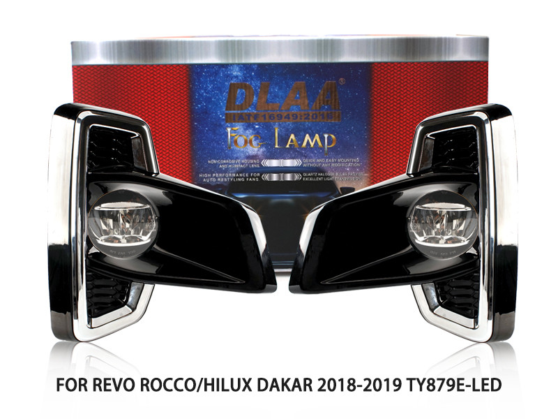 DLAA Fog Lamps Set Bumper Lights withwire FOR REVO ROCCO HILUX DAKAR 2018-2019 TY879E-LED