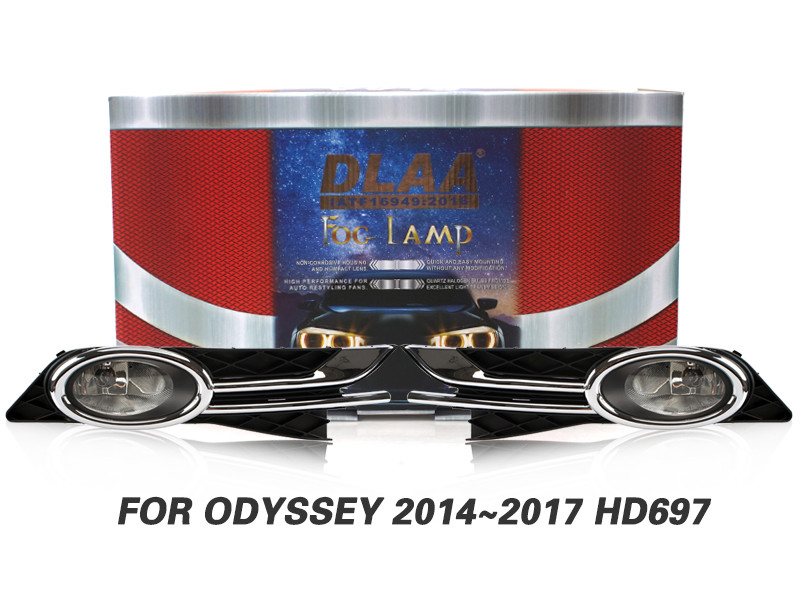 DLAA Fog Lamps Set Bumper Lights withwire FOR ODYSSEY 2014~2017 HD697