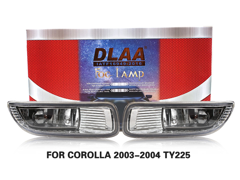 DLAA Fog Lamps Set Bumper Lights withwire FOR COROLLA 2003-2004 TY225