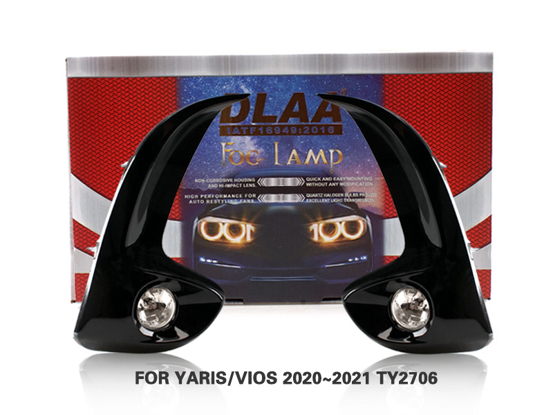 DLAA Fog Lamps Set Bumper Lights withwire FOR YARIS VIOS 2020~2021 TY2706