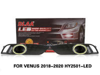 DLAA FogLamps Set Bumper Lights withwire FOR VENUS 2018-2020 HY2501-LED