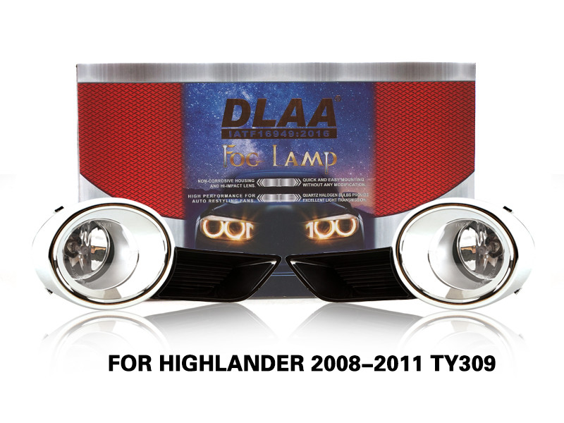 DLAA FogLamps Set Bumper Lights withwire FOR HIGHLANDER 2008-2011 TY309