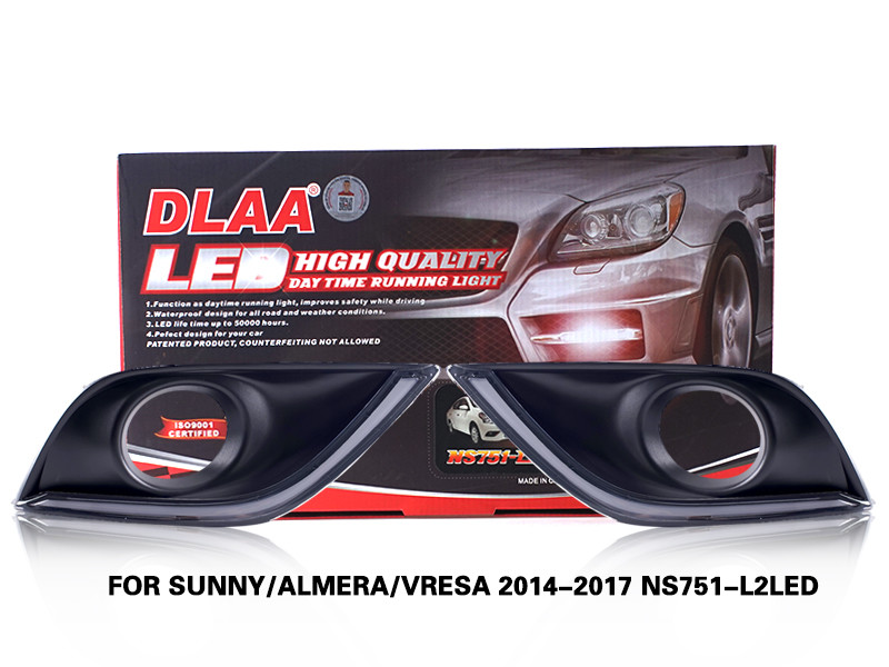 DLAA FogLamps Set Bumper Lights withwire FOR SUNNY ALMERA VRESA 2014-2017 NS751-L2LED