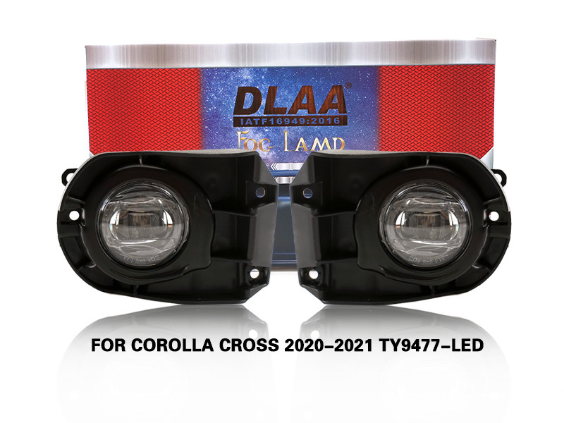 DLAA Fog Lamps Set Bumper Lights withwire FOR COROLLA CROSS 2020-2021 TY9477-LED