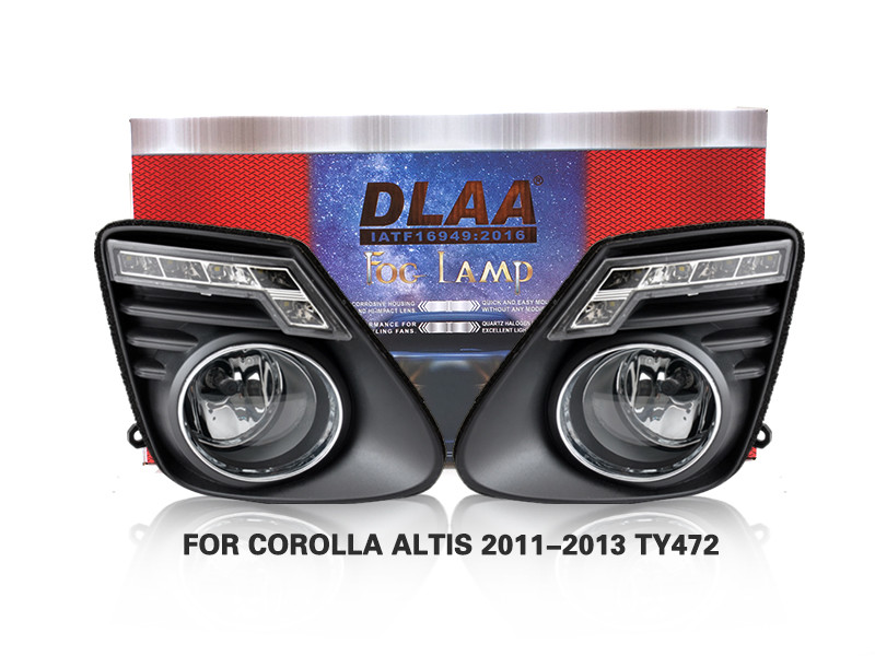 DLAA Fog Lamps Set Bumper Lights withwire FOR COROLLA ALTIS 2011-2013 TY472