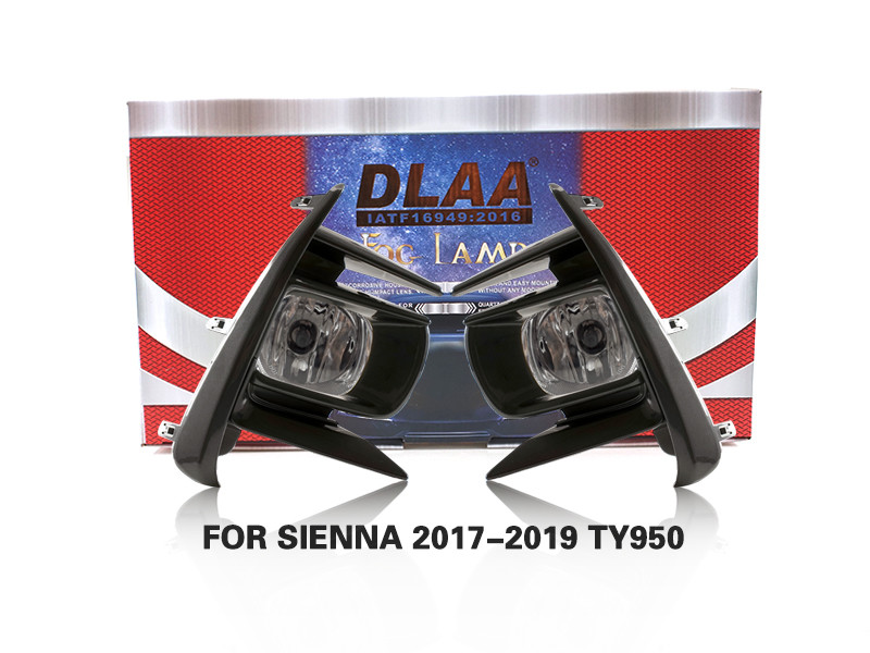DLAA Fog Lamps Set Bumper Lights withwire FOR SIENNA 2017-2019 TY950