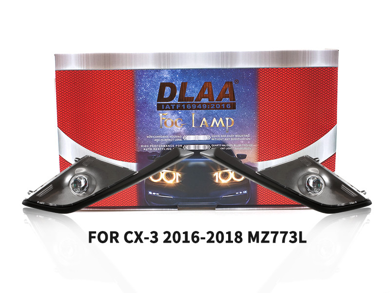 DLAA Fog Lamps Set Bumper Lights withwire FOR CX-3 2016-2018 MZ773L
