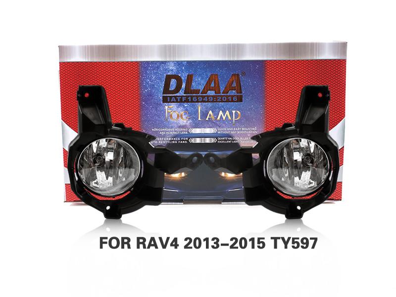 DLAA Fog Lamps Set Bumper Lights withwire FOR RAV4 2013-2015 TY597