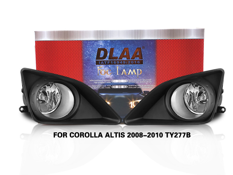 DLAA Fog Lamps Set Bumper Lights withwire FOR COROLLA ALTIS 2008-2010 TY277B
