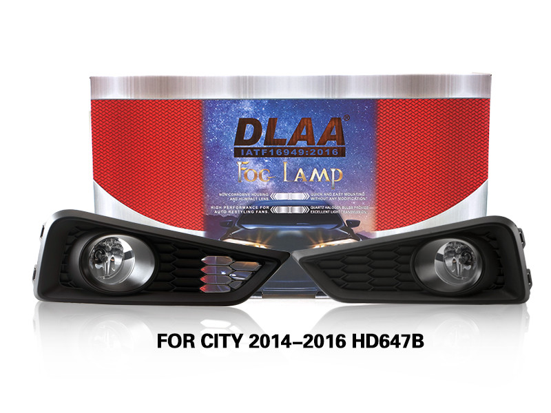DLAA Fog Lamps Set Bumper Lights withwire FOR CITY 2014-2016 HD647B