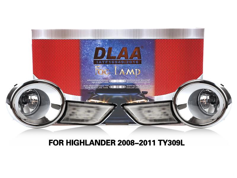 DLAA Fog Lamps Set Bumper Lights withwire FOR HIGHLANDER 2008-2011 TY309L
