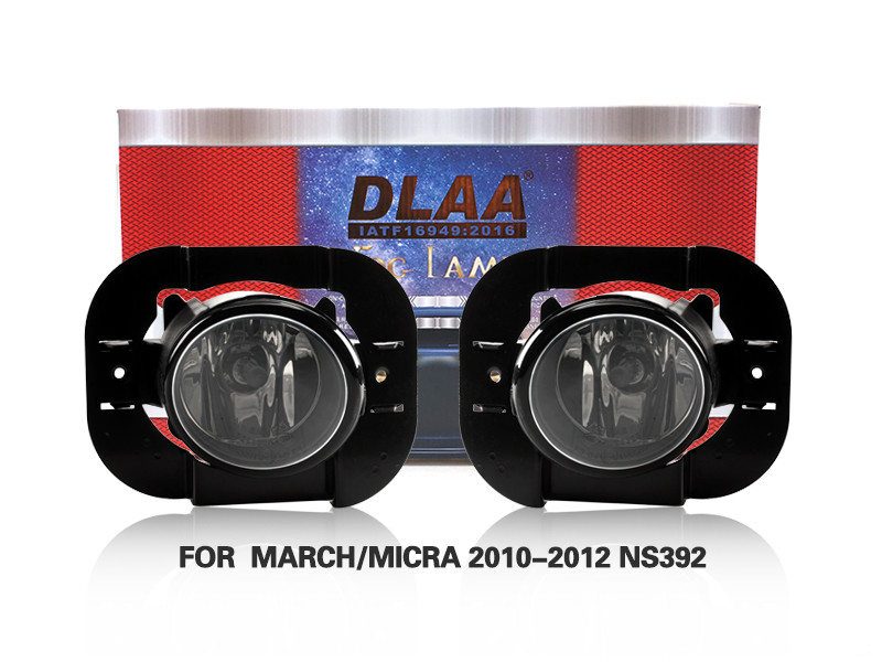 DLAA Fog Lamps Set Bumper Lights withwire FOR  MARCH MICRA 2010-2012 NS392
